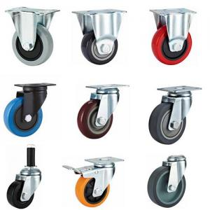 China Rubber expander caster,rubber sleeve caster wheel,medium duty castor wheel,rigid castor,fixed caster on sale