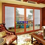 3.0mm Aluminum Profile Aluminum Sliding Patio Doors With 6mm Tempered Clear Glass