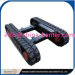 China Professional rubber undercarriage/engineering track undercarriage/crawler chassis/worm chasis wholesale