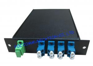 China 8 Channel optical fiber multiplexer , high speed multiplexer LC Connector on sale