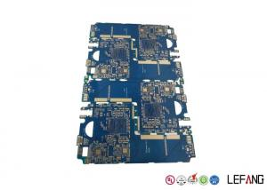 China Blue Solder Mask Multilayer PCB Board For Impedance Communication Equipment on sale