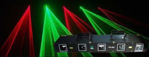 China Four Heads Red Green Disco Laser Light DMX512 Laser Lighting supplier