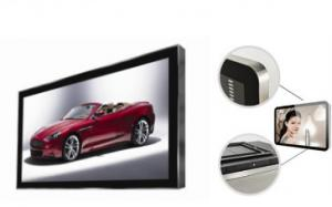 China 22 inch super slim golden frame video advertising screen elevator vertical lcd display on sale