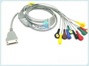 China Hangzhou beneware ECG holter cable with 10 / 12lead ecg cable with snap on sale