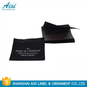 China Accessories Damask Clothing Label Tags , Custom Made Apparel Garment Woven Label on sale