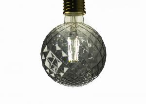 China G125 Round Edison LED Light Bulb Amber Dimmable 4 Watt Double Spiral Filament 2300k on sale