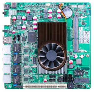 China Atom D525 Motherboard with 4 LAN Port ITX-M5F on sale