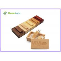 China Debossed Logo USB Wooden Memory Sticks 16GB For Company & Individual on sale