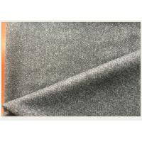 China 50% Wool Woven Gray Herringbone Fabric Anti Wind For Autumn Outfit / Jacket on sale