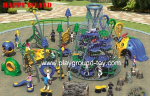 China Happy Island New Design Adventure Playground Equipment For Children on sale
