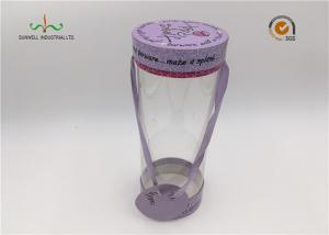 China Custom Made Luxury PVC Plastic Cylinder Tube Boxes With Hand For Portable on sale