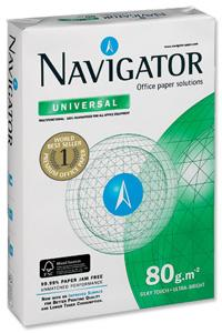 China Navigator Universal Paper Multifunctional 80gsm 500 Sheets per Ream A4 White on sale