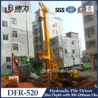 20m Hydraulic Pile Driver DFR-520 Mounted on Crawler