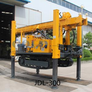 China JDL-300 DTH percussive drilling water-air dual purpose track-mounted Drilling Rig on sale
