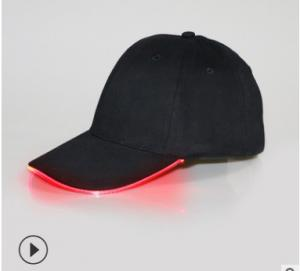 China USB Charging App Control Led Message Hat , Glow In The Dark Hats 6 Panel on sale