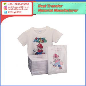China A4 light color inkjet heat transfer paper for cotton fabric on sale