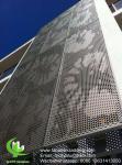 gold color  Metal aluminium perforated facade cladding for facade exterior cladding