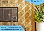 Papier peint européen luxueux de style avec le matériel démontable de feuille d'or