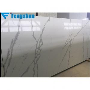 China Fengshuo white quartz countertop beautiful calacatta quartz stone on sale