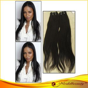 China Soft / Silky 24 Remy Human Hair Extensions Weft In Natural Color on sale