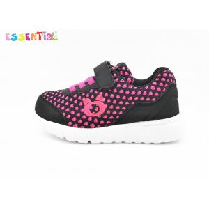 Youth Girls Running Shoes / Lightweight Kids Sports Shoes Velcro Style