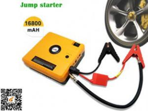 China Heavy Duty Truck Pocket Power Bank Portable Auto Jump Starter Yellow 16800mAH on sale