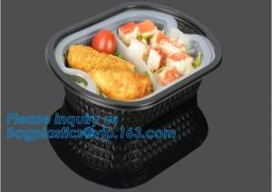China Factory Direct Lid Plastic Lunch Box Clear Food Container,Keep Fresh Crisper Food Box,Fresh Boxpp packaging disposable c on sale