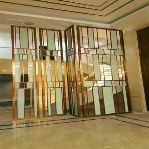 Designed Folding screen room divider stainless steel decorative