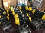 China Stainless Steel CF8/CF8M Pneumatic Actuator Flanged Ball Valve