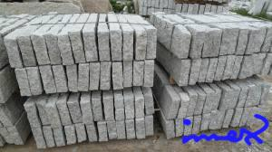 China Light Grey Rough Granite Curbstones/Kerb Stones on sale