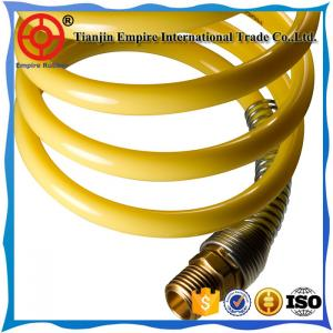 China High quality 9mm yellow Nylon material spiral air flexible hose plastic spiral hose on sale