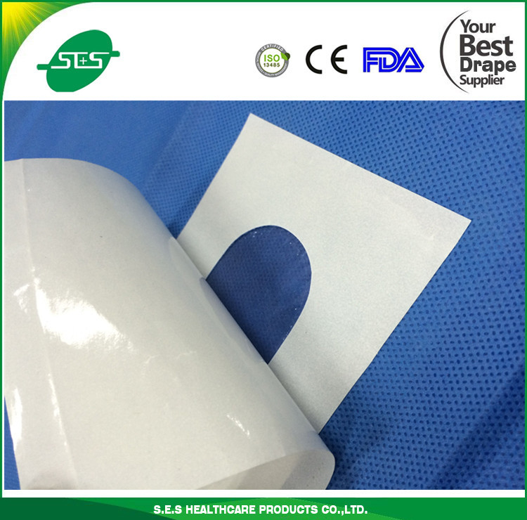 sterile adhesive fenestrated drape with hole disposable surgical
