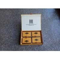 Hardcover Food Flat Pack Gift Boxes , Medium Gift Boxes For Mooncake