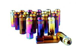 Quality Alloy / Carbon / Stainless Steel Auto Lug Nuts For Rims 60mm , 12 Months for sale