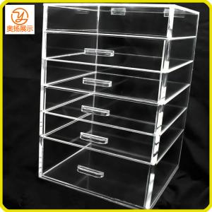 China eco-friendly acrylic makeup organizer with 5 drawers on sale