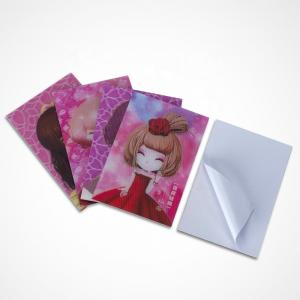 China 3d Raster Stickers 3d Lenticular Print With Cartoon Girls 3d Hologram Stickers on sale