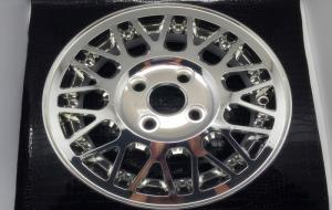 China Siliver High Speed Cnc Machining , Rapid Prototyping Aluminum Car Rim Wheel on sale