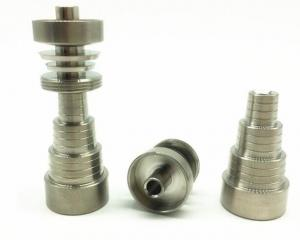 China Titanium Nail 6 in 1 Domeless Titanium Nails 10mm &14mm & 19mm Female and Male Joint on sale