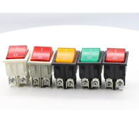 120V Double Throw Dpst on-off Neon Lamp Kcd4 Covered Rocker Switch
