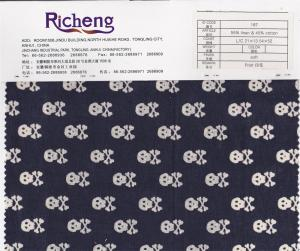 China linen cotton blend fabric with skull printed pattern on sale