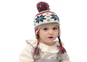 China Xmas Cartoon Design Warm Winter Accessories Knitted Beanie For Children on sale