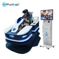 1 Player 9D Virtual Reality Simulator Rides High Speed Race Car 0.7KW With HTC Tracker