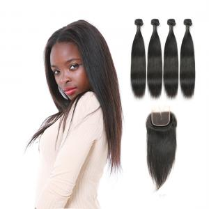 China Genuine Raw Indian Remy Human Hair Extension Weave No Synthetic Hair on sale