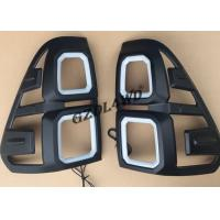 Black 4x4 Body Kits / Car Tail Light Cover With LED For Toyota Hilux Revo Sr5 15 - 17