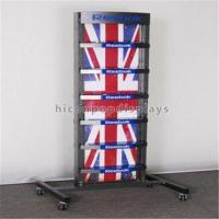 Metal Retail Store Fixtures 4 Caster Functional Sports Gear Outdoor Shoe Display Rack