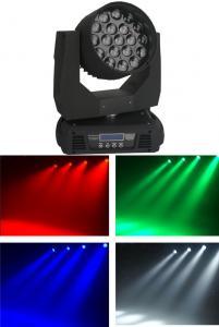 China Mac Aura LED Zoom Moving Head Light 19PCS Nominal 15W LED 4 In 1 Lamp on sale