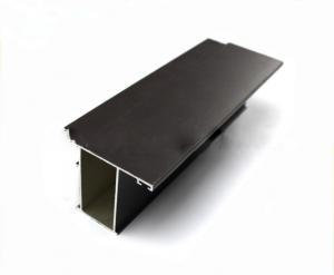 China La porte de couleur noire profile la place/rond en aluminium pour la porte en verre de glissement on sale