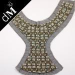 La mode à la mode adaptée aux besoins du client a perlé le collier/encolures pour des vêtements avec 28 * 33 C Nl847