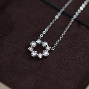 China 1.48 Grams Moissanite Jewelry , 0.08 Carat White Gold Moissanite Necklace on sale