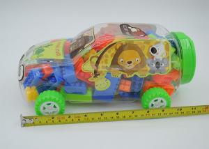 China 2 In 1 Mixed Colors Plastic Mini Building Block Sets Car Shaped Box Packing on sale